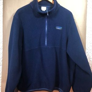 LL BEAN  vintage fleece pullover XL BLUE